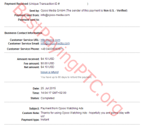 Payment Proof Ojooo 25 july 2015